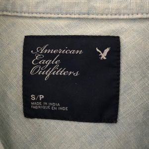American Eagle Outfitters Tops - Light Wash Denim Button Up American Eagle Outfittr